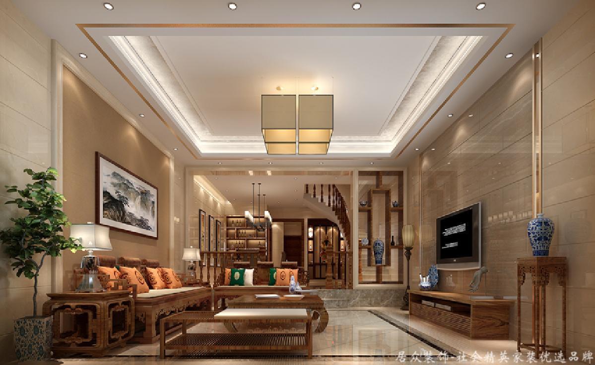 别墅 白领 中式风 客厅图片来自重庆居众装饰在美美美的家居生活的分享