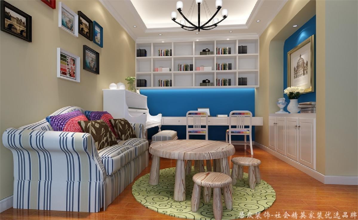 别墅 小资 美式风 书房图片来自重庆居众装饰在融创奥园-美式风格-500㎡的分享