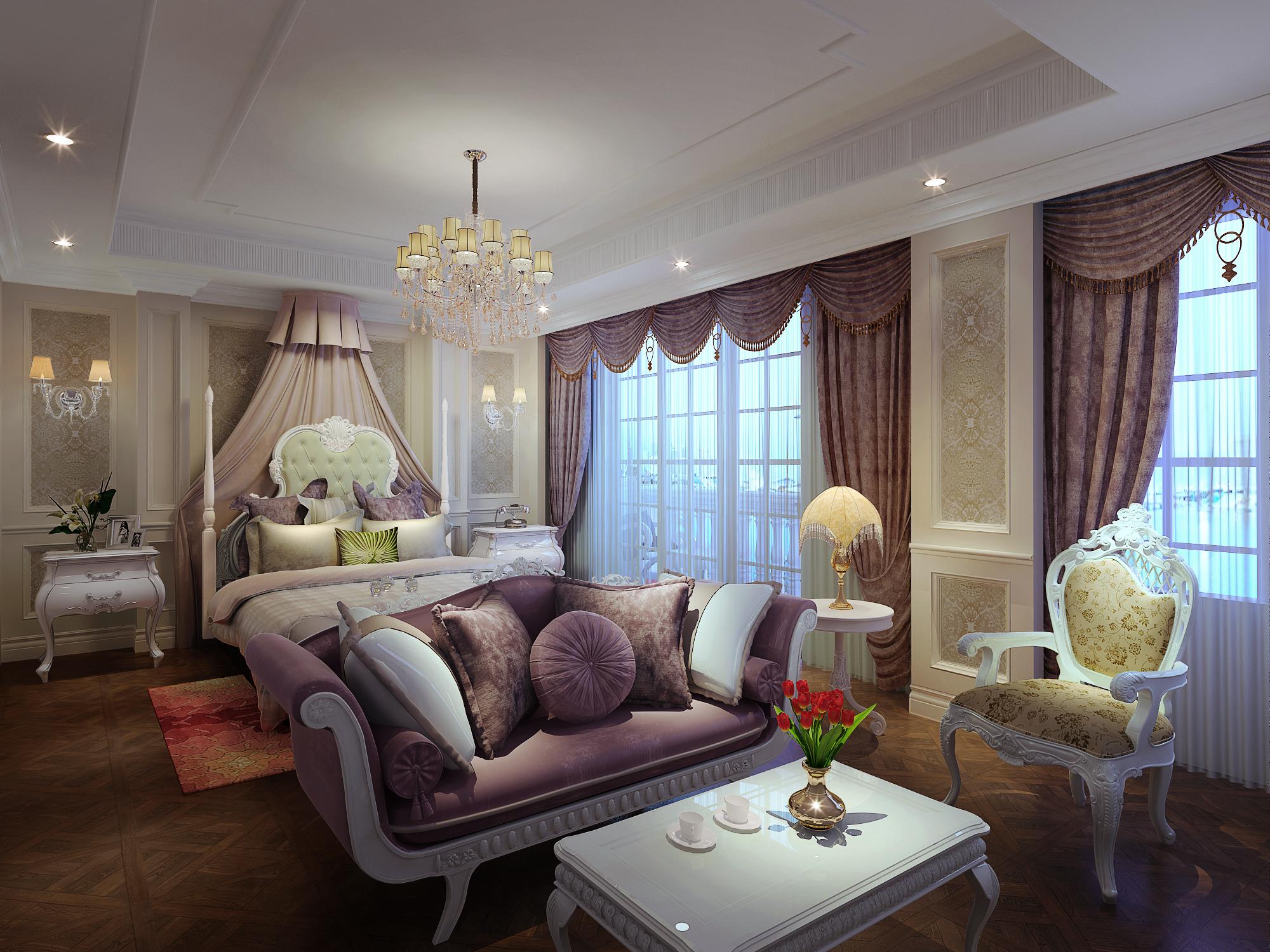 欧式 别墅 80后 混搭 卧室图片来自赢和国际设计在新苑小区的分享