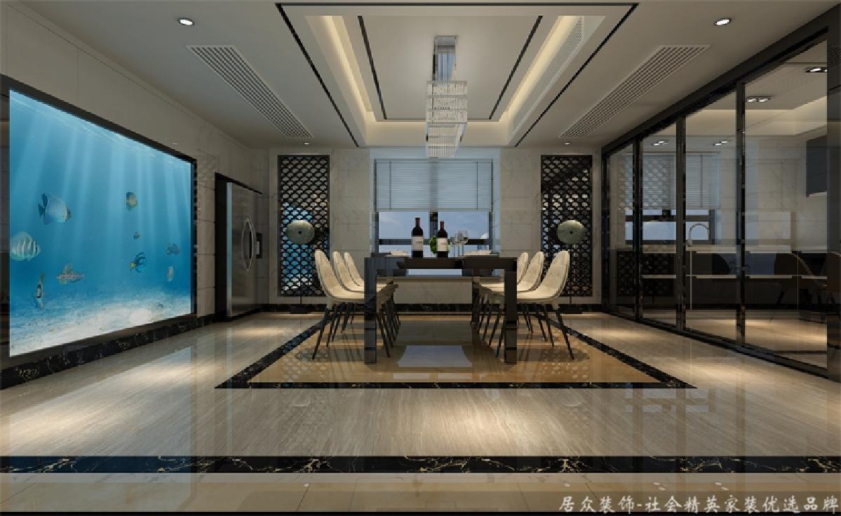 四居 旧房改造 现代 餐厅图片来自gqx9211300在宽敞、气势磅礴-现代风格四居的分享