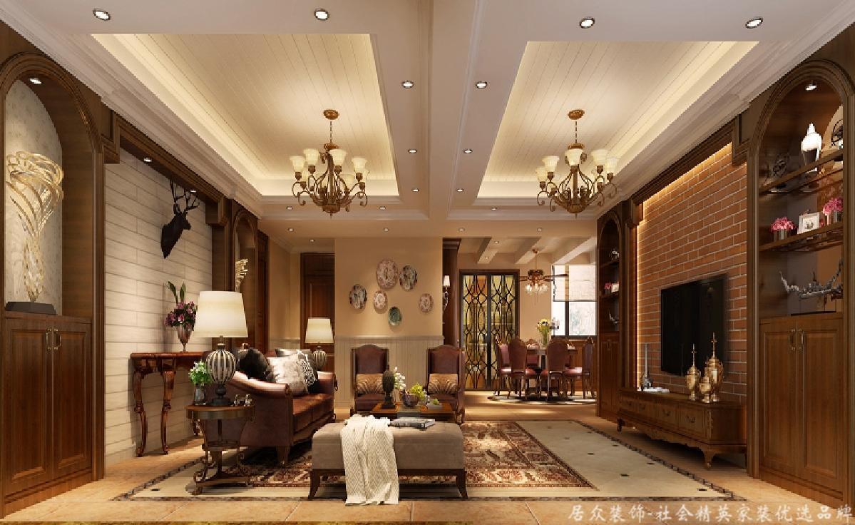 美式 四居 旧房改造 客厅图片来自gqx9211300在清新乡间气息扑面而来的分享