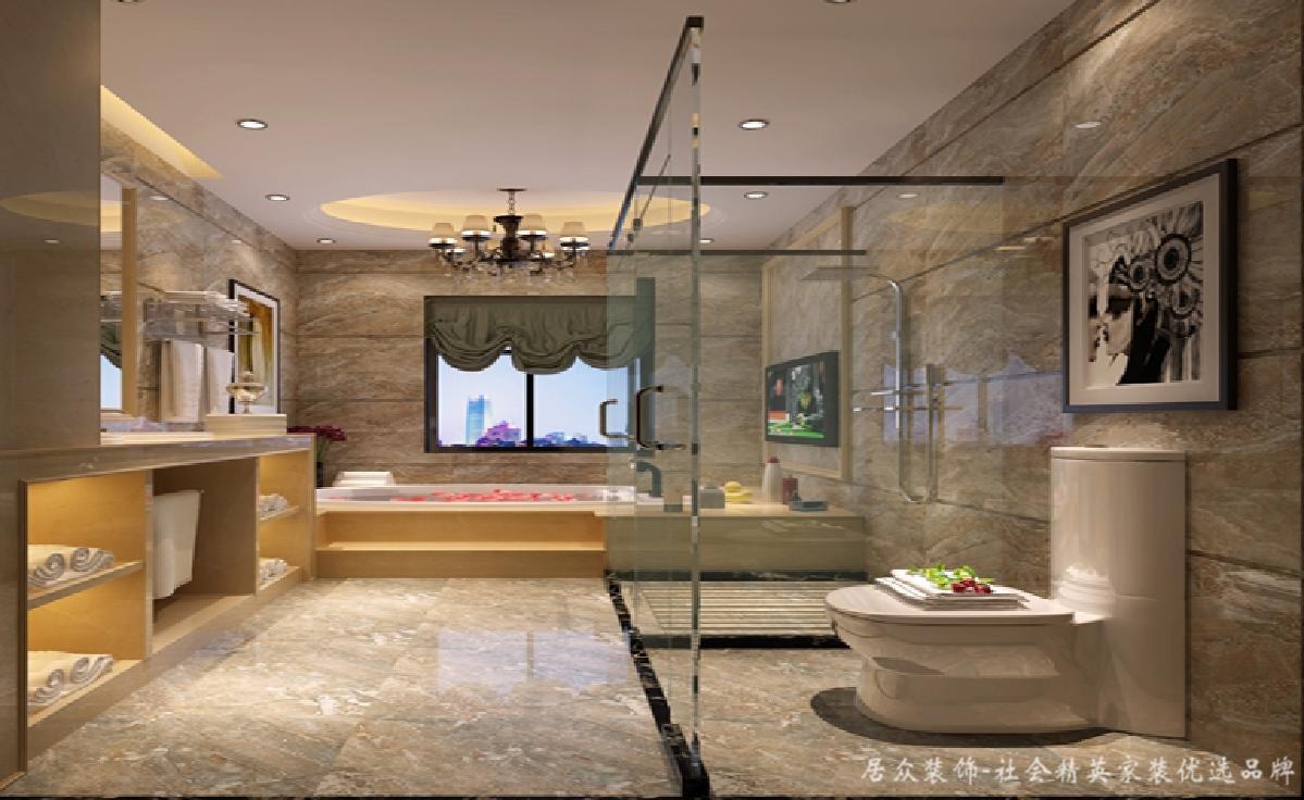 欧式 简约 三居 小资 卫生间图片来自居众装饰长沙分公司在保利国际广场-欧式风格-110㎡的分享