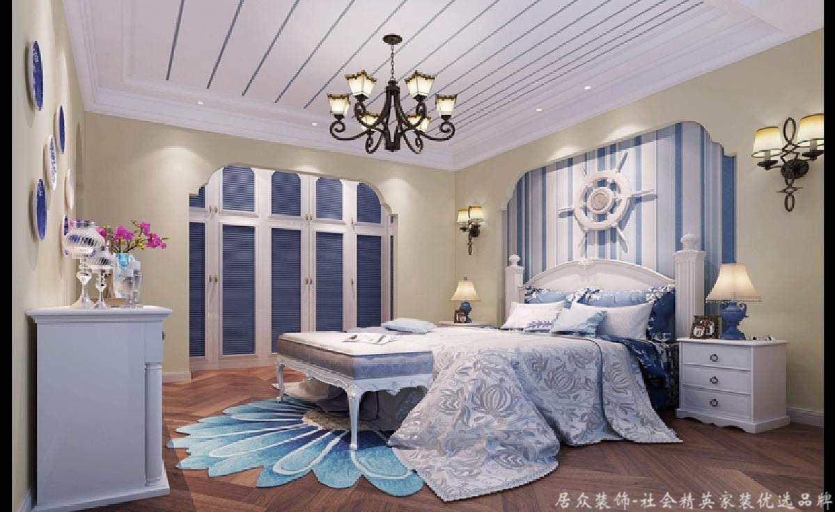 """地中海 四居 卧室图片来自gz居众装饰在""""混搭""""田园的分享"""