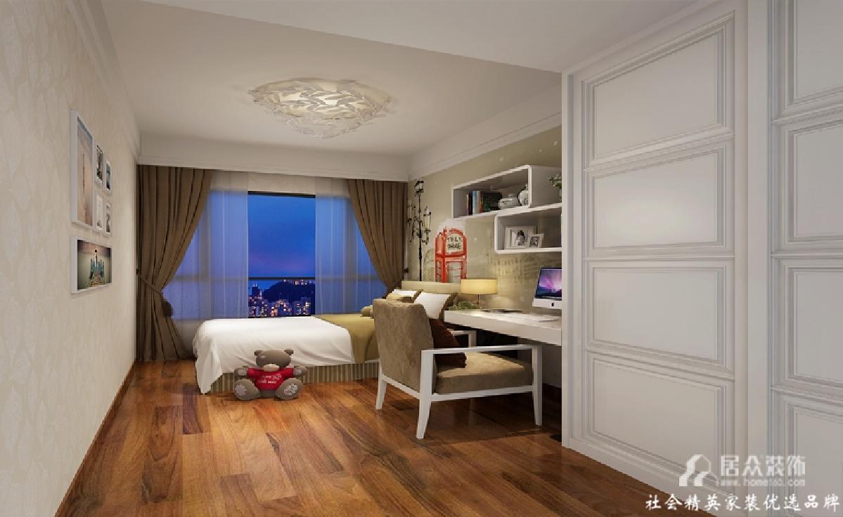 别墅 简约 现代 卧室图片来自gz居众装饰在宁静致远的分享
