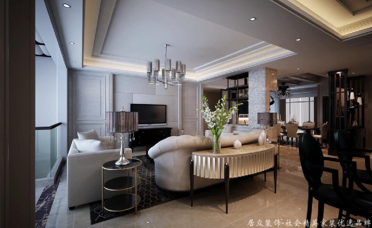 复式 新古典 毛坯 客厅图片来自gqx9211300在高端尊贵-300平新古典风格复式楼的分享