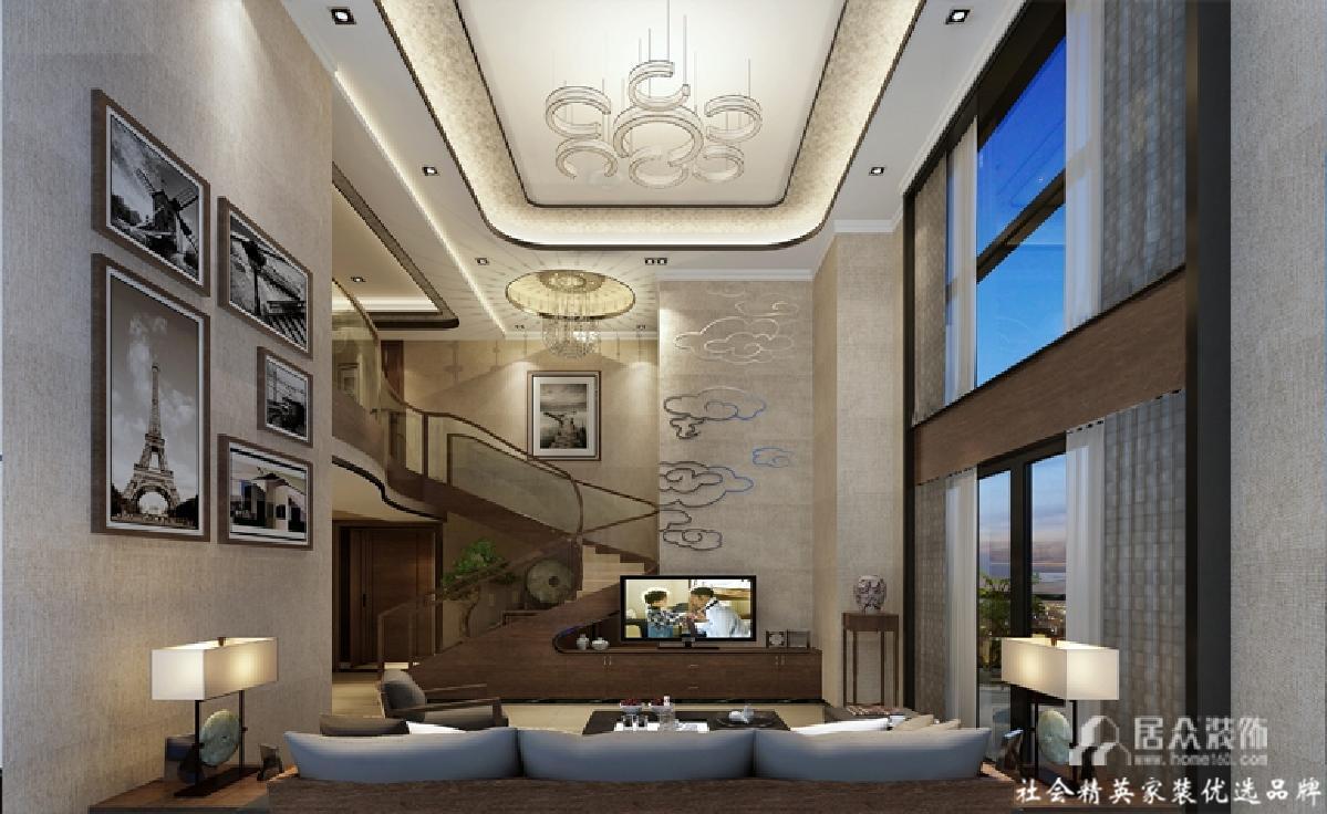 别墅 简约 现代 客厅图片来自gz居众装饰在宁静致远的分享