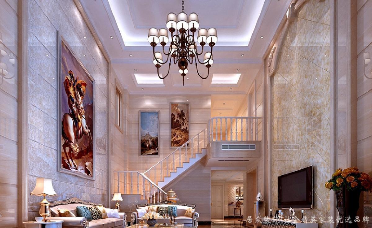 北欧 别墅 高端 大气 客厅图片来自居众装饰长沙分公司在第六都-北欧风格的分享
