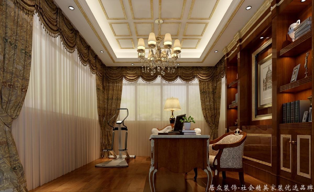 欧式 居众 书房图片来自重庆居众装饰在金科小城故事-欧式风格-400㎡的分享