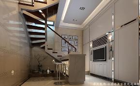 中式 居众 楼梯图片来自重庆居众装饰在橡树澜湾-中式风格-360㎡的分享