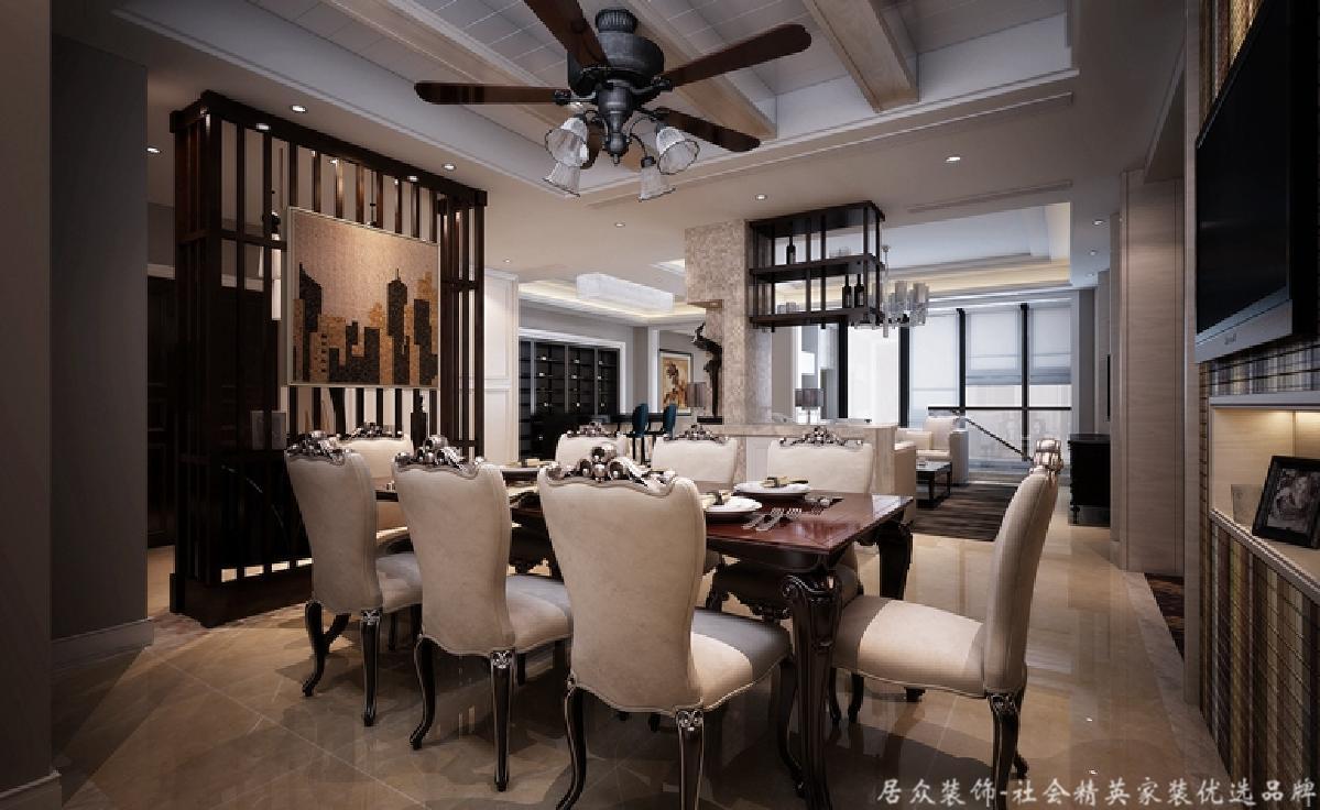 复式 新古典 毛坯 餐厅图片来自gqx9211300在高端尊贵-300平新古典风格复式楼的分享