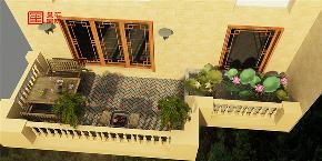 中式 别墅 玺汇国际 石家庄装修 80后 阳台图片来自河北玺汇国际装饰公司在原河名墅260平别墅中式风格的分享