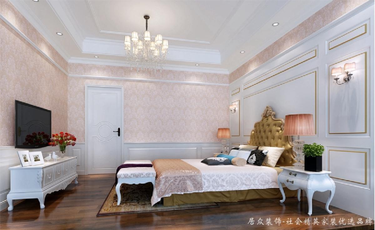 新古典 别墅 典雅 卧室图片来自居众装饰长沙分公司在龙湾国际-新古典风格-500㎡的分享