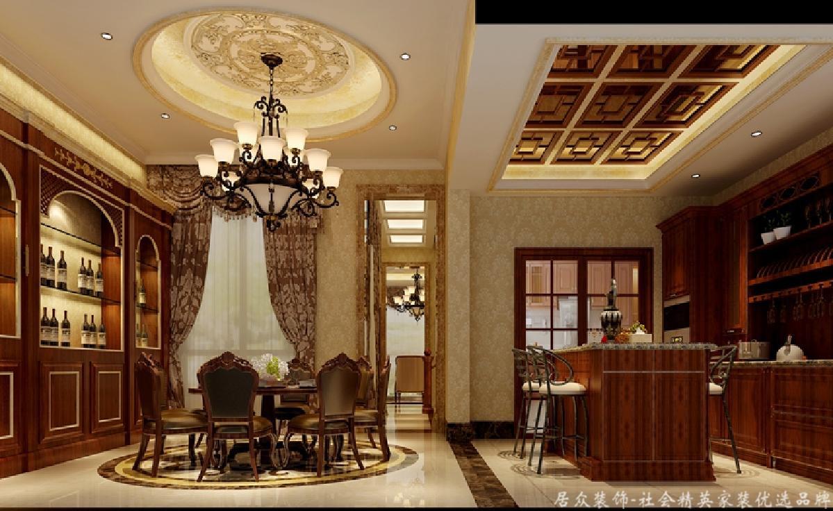 欧式 居众 餐厅图片来自重庆居众装饰在金科小城故事-欧式风格-400㎡的分享