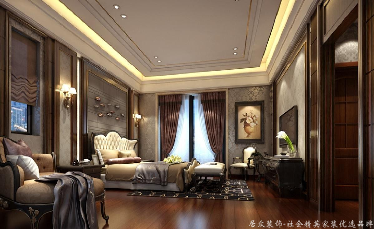 旧房改造 五居 欧式 卧室图片来自gz居众装饰在空间节奏感的分享