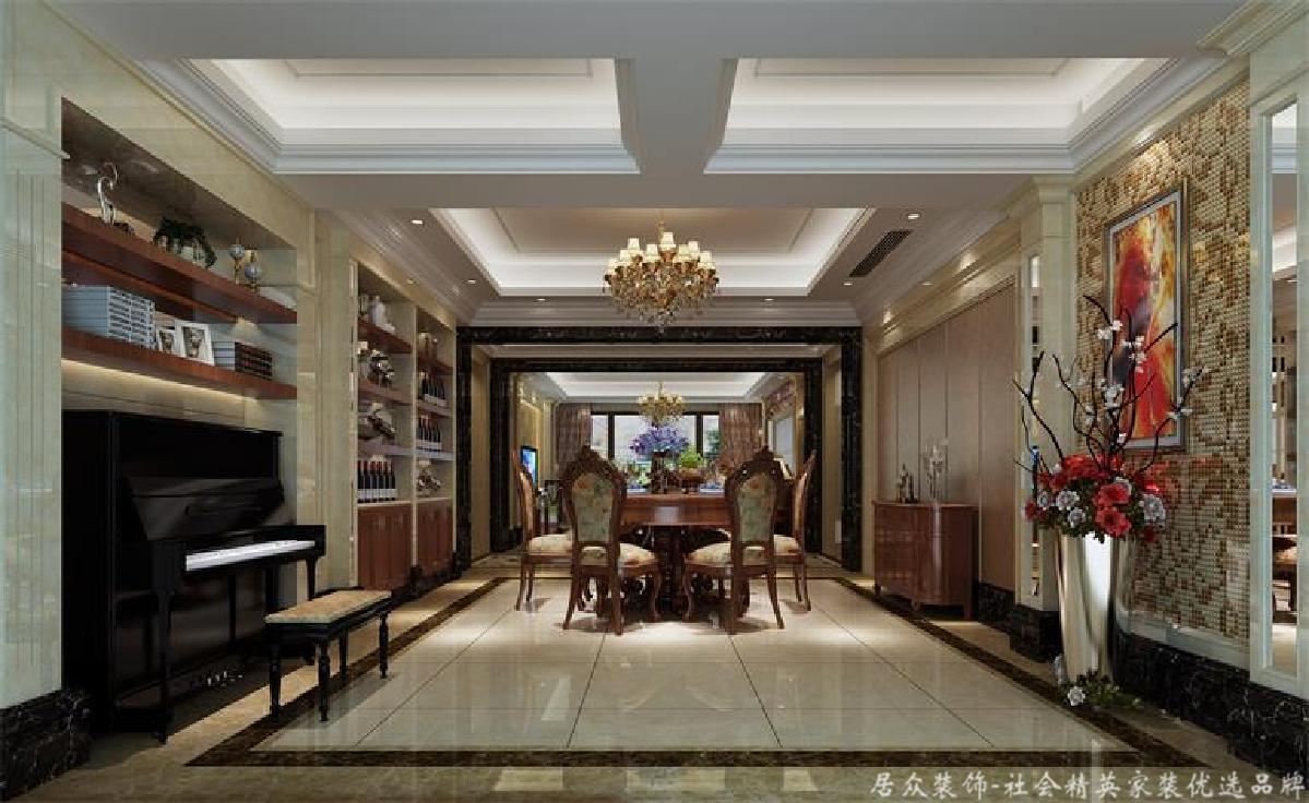 欧式 别墅 餐厅图片来自gz居众装饰在古典欧式别墅的分享