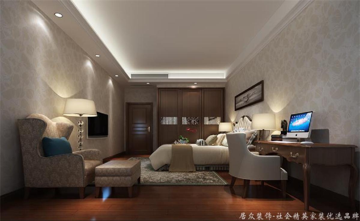 欧式 别墅 卧室图片来自gz居众装饰在古典欧式别墅的分享