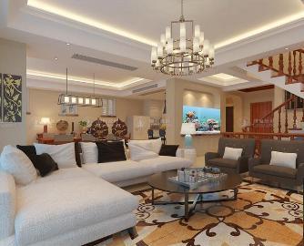 海湾国际名苑300平别墅现代风格