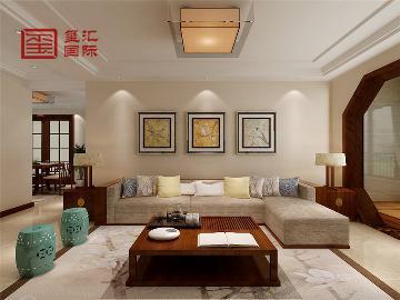 恒大警苑128平三室新中式