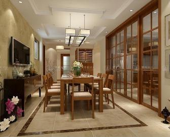 华贸东滩别墅现代中式风格
