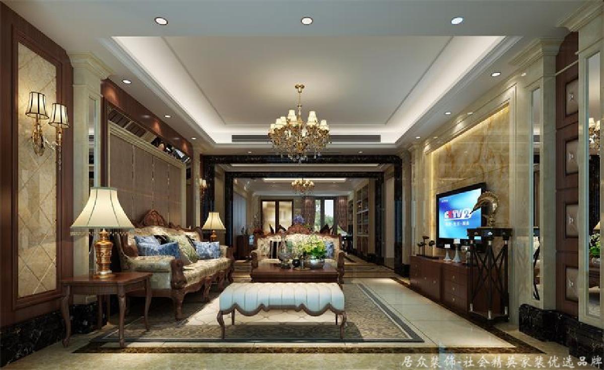 欧式 别墅 客厅图片来自gz居众装饰在古典欧式别墅的分享