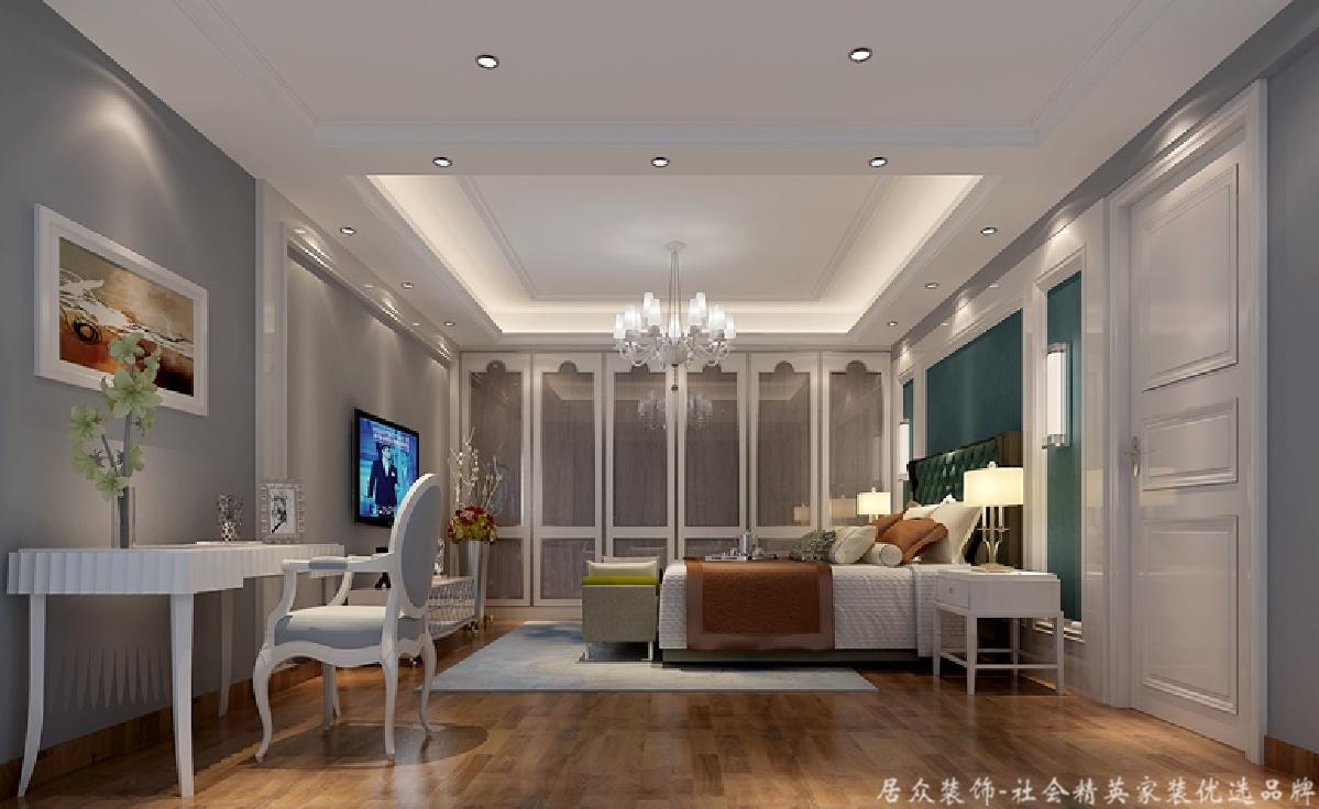 中式 简约 复式 卧室图片来自居众装饰长沙分公司在第六都-中式风格-190㎡的分享