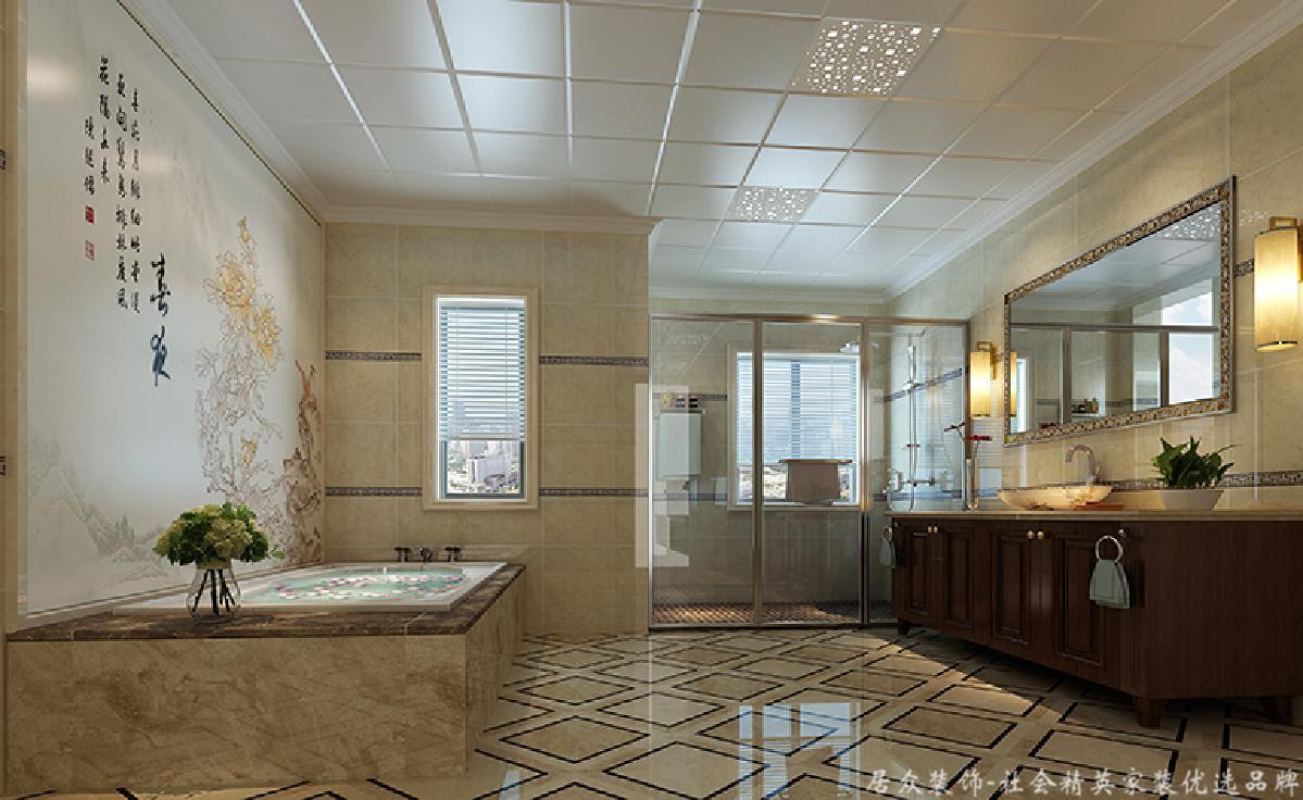 地中海 别墅 大气 舒适 卫生间图片来自居众装饰长沙分公司在保利阆峰-地中海风格-380㎡的分享
