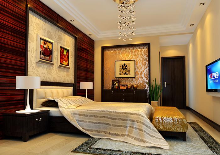 简约 中式 混搭 四居 养老房 老房翻新 7080 8090 小资 卧室图片来自轻舟装饰家居顾问在欧陆经典--高档典雅的生活空间的分享