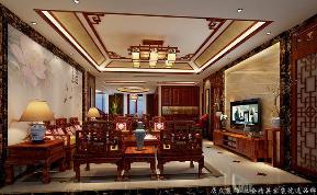 """中式 古典 舒适 跃层 客厅图片来自gqx9211300在""""古典""""中式风格跃层的分享"""