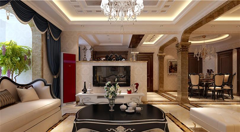 三居 白领 收纳 80后 小资 客厅图片来自实创装饰完美家装在金地朗悦3室2厅2卫120㎡简欧的分享