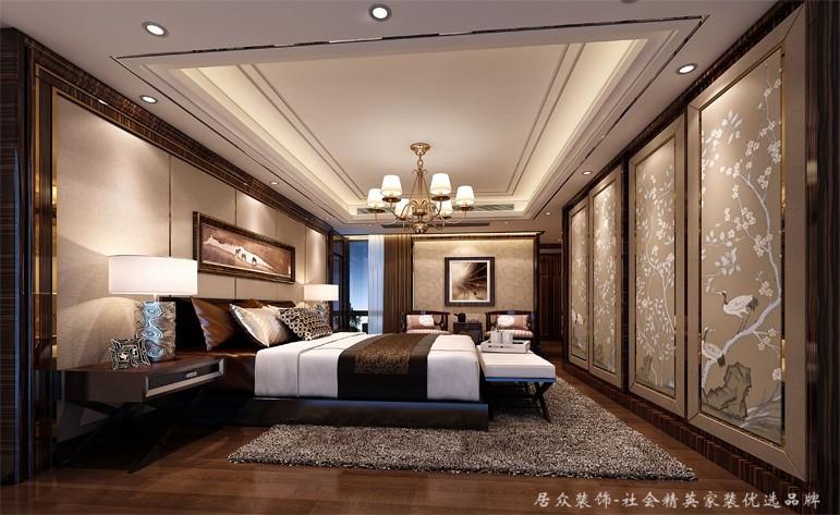 中式 舒适 高贵 卧室图片来自深圳居众装饰集团在高贵府邸城市山林-220平的分享