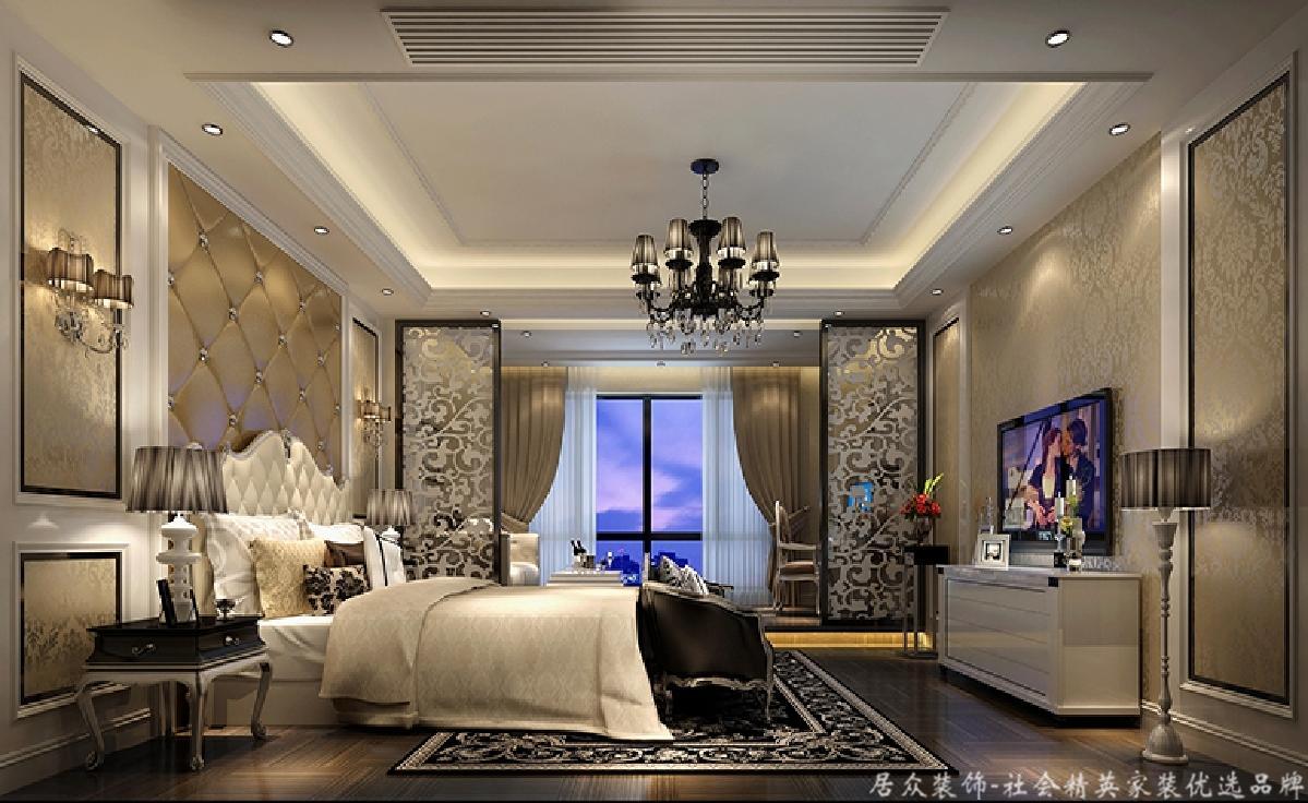 北欧 别墅 华贵 典雅 卧室图片来自居众装饰长沙分公司在湘江豪庭-北欧风格-300㎡的分享