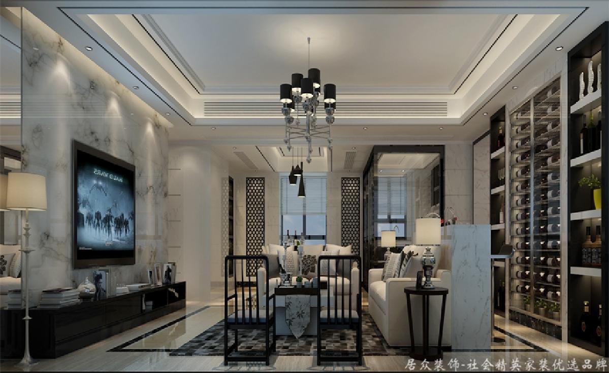 现代 简洁 大气 浪漫 客厅图片来自居众装饰长沙分公司在金茂梅溪湖-现代风格-100㎡的分享