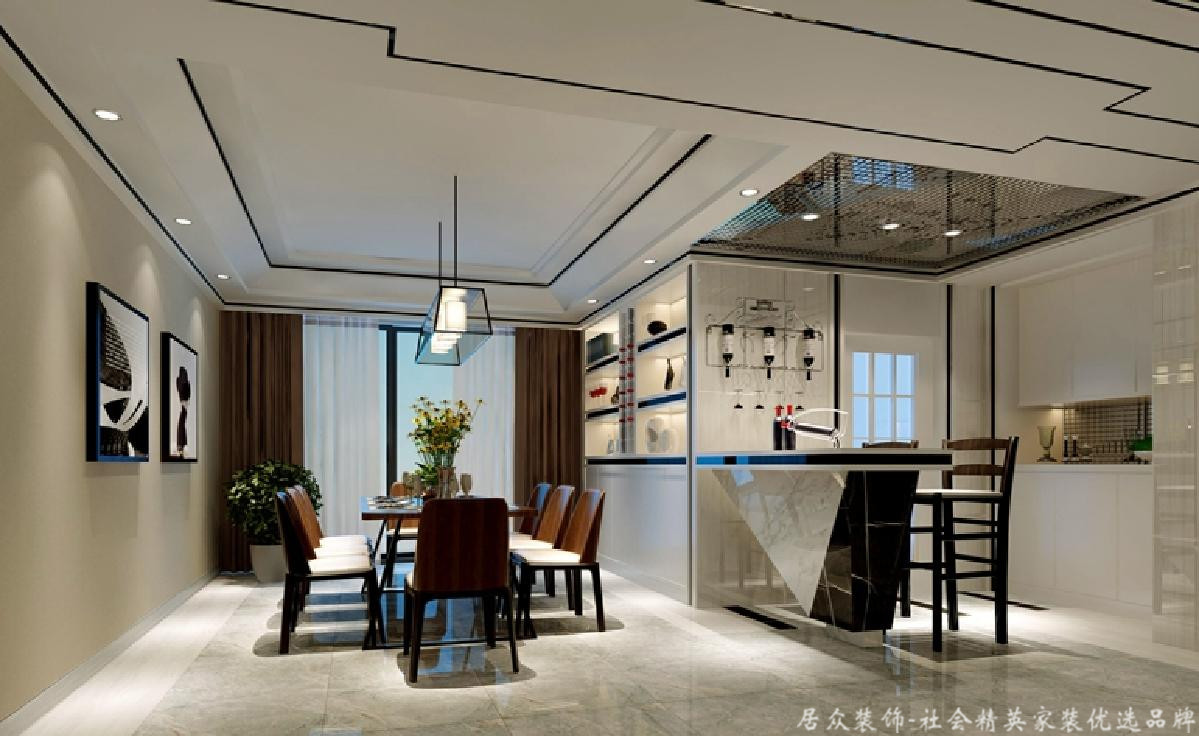 """四居 毛坯 其他 餐厅图片来自gz居众装饰在打造现代—""""东湖""""洲的分享"""