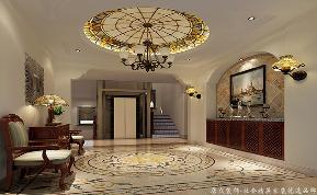 地中海 别墅 大气 舒适 玄关图片来自居众装饰长沙分公司在保利阆峰-地中海风格-380㎡的分享