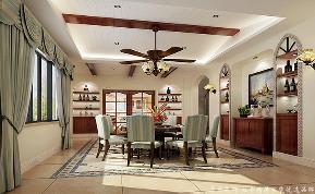 地中海 别墅 大气 舒适 餐厅图片来自居众装饰长沙分公司在保利阆峰-地中海风格-380㎡的分享