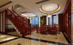 """中式 古典 舒适 跃层 餐厅图片来自gqx9211300在""""古典""""中式风格跃层的分享"""