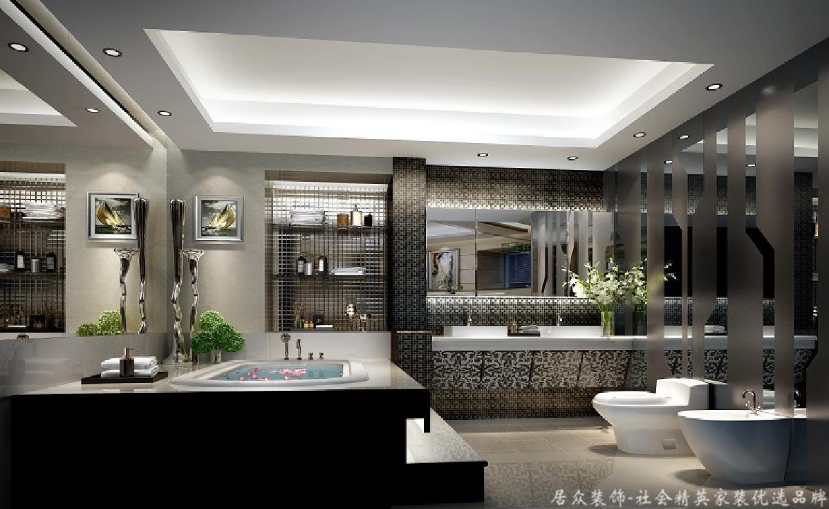 北欧 二居 淡雅 卫生间图片来自居众装饰长沙分公司在旭辉御府-北欧风格-96㎡的分享