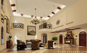 地中海 别墅 大气 舒适 客厅图片来自居众装饰长沙分公司在保利阆峰-地中海风格-380㎡的分享