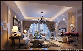 欧式 温馨 四居 客厅图片来自居众装饰长沙分公司在保利国际广场-欧式风格-210㎡的分享