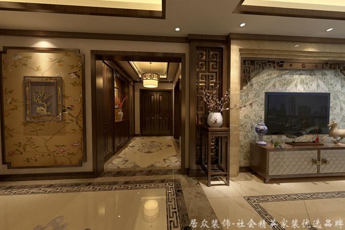 五居 中式 平层 玄关图片来自gqx9211300在恒大华府-中式五居平层的分享