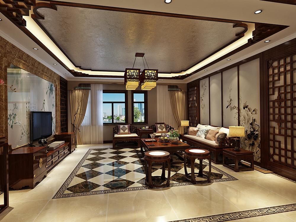 三居 中式 客厅图片来自tjsczs88在古韵悠长,鸟语花香的分享