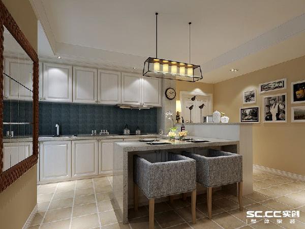 亚星星苑123平混搭风格装修设计-餐厅/厨房