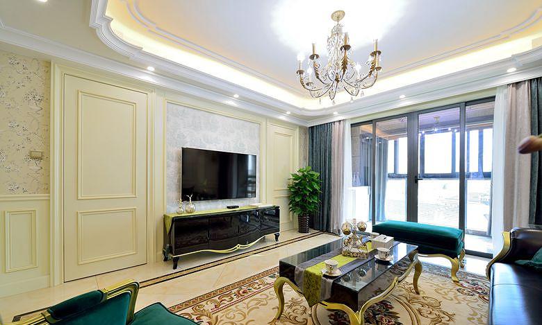 客厅图片来自家装大管家在高雅的人生 163平法式新古典3居的分享
