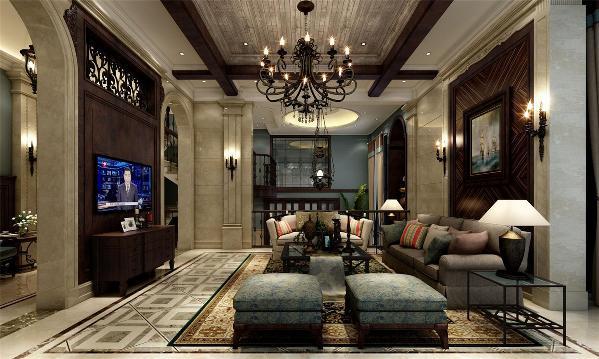 崇明岛自建别墅装修美式风格设计方案展示,上海腾龙别墅设计师孔继民作品,欢迎品鉴!