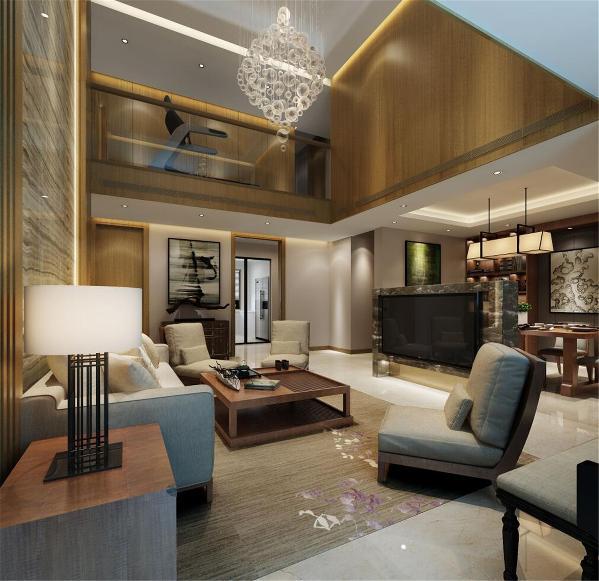 保利茉莉公馆叠加别墅装修现代风格设计方案展示,上海腾龙别墅设计师徐文作品,欢迎品鉴!