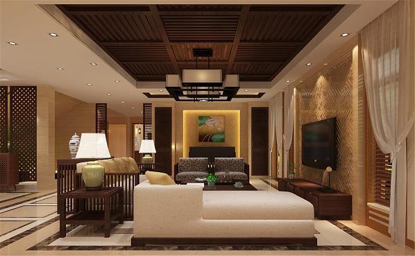 大豪山林别墅装修新中式风格设计方案展示,上海腾龙别墅设计师曹晖作品,欢迎品鉴