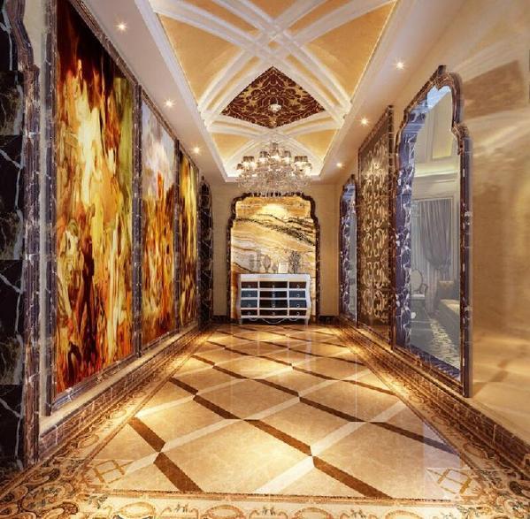 路劲上海院子别墅装修奢华古典欧式风格设计方案展示,上海腾龙别墅设计师徐文作品,欢迎品鉴!