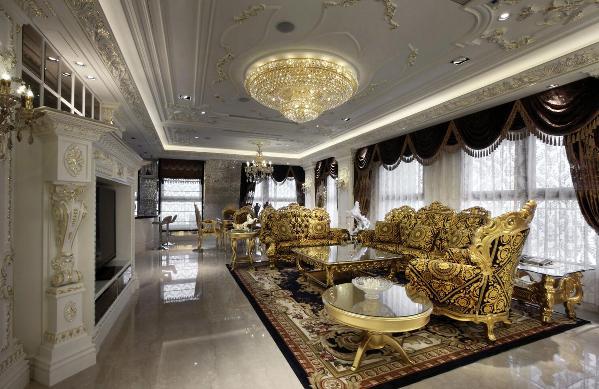 别墅装修法式皇宫,新古典风格设计方案展示,上海腾龙别墅设计师任云龙作品,欢迎品鉴!