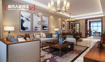 龙景逸墅130平米中式风格设计