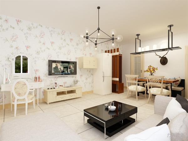 外形简洁、功能强,强调室内空间形态和物件的单一性、抽象性,是精心分类,合理地减少,使自己从杂乱的禁闭中解脱出来。客厅设计讲究的是简约、稳重,深色的电视柜、茶几,浅色的沙发。